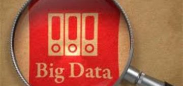 magnifying glass over words big data